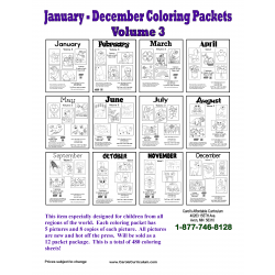 12 Month Coloring Packet Vol. 3
