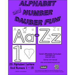 Alphabet and Number Dauber Fun