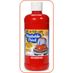 Red Washable Paint