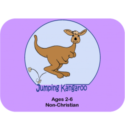 2 Children Jumping Kangaroo curriculum plus shipping