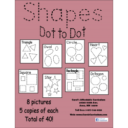 Shapes Dot to Dot