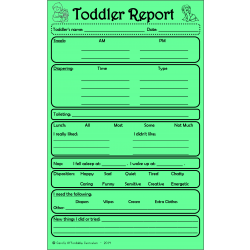 Toddler Report